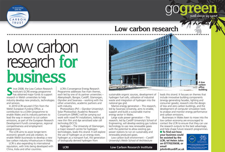 Low carbon research for business