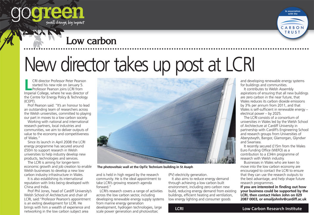 New director takes up post at LCRI