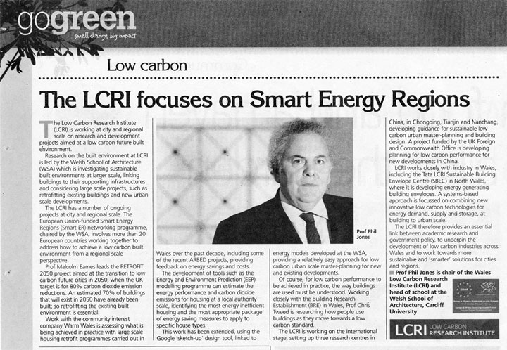 The LCRI focuses on Smart Energy Regions