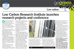 Low Carbon Research Institute launches research projects and conference