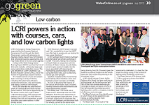 LCRI powers in action with courses, cars, and low carbon lights