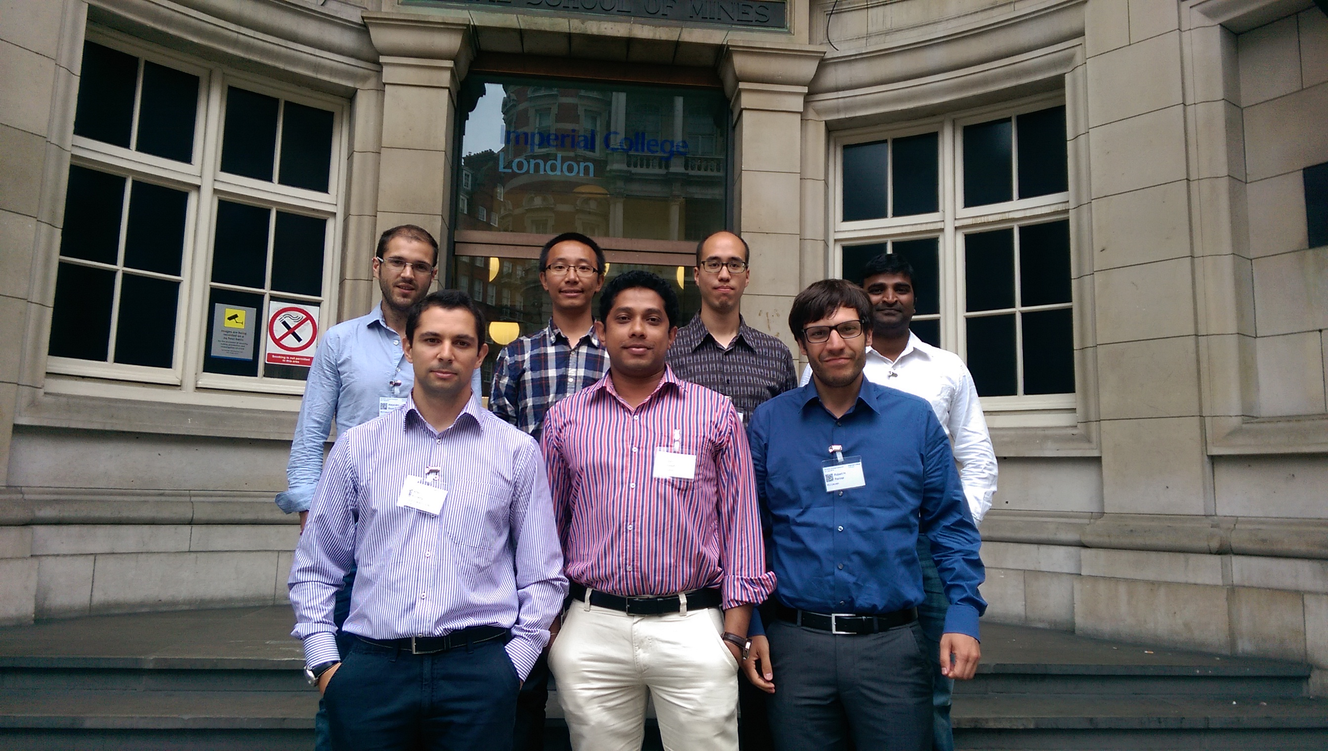MEDOW ESRs at the 5th HVDC PhD Colloquium, July 2014 (also present: Jorge Gonçalves)